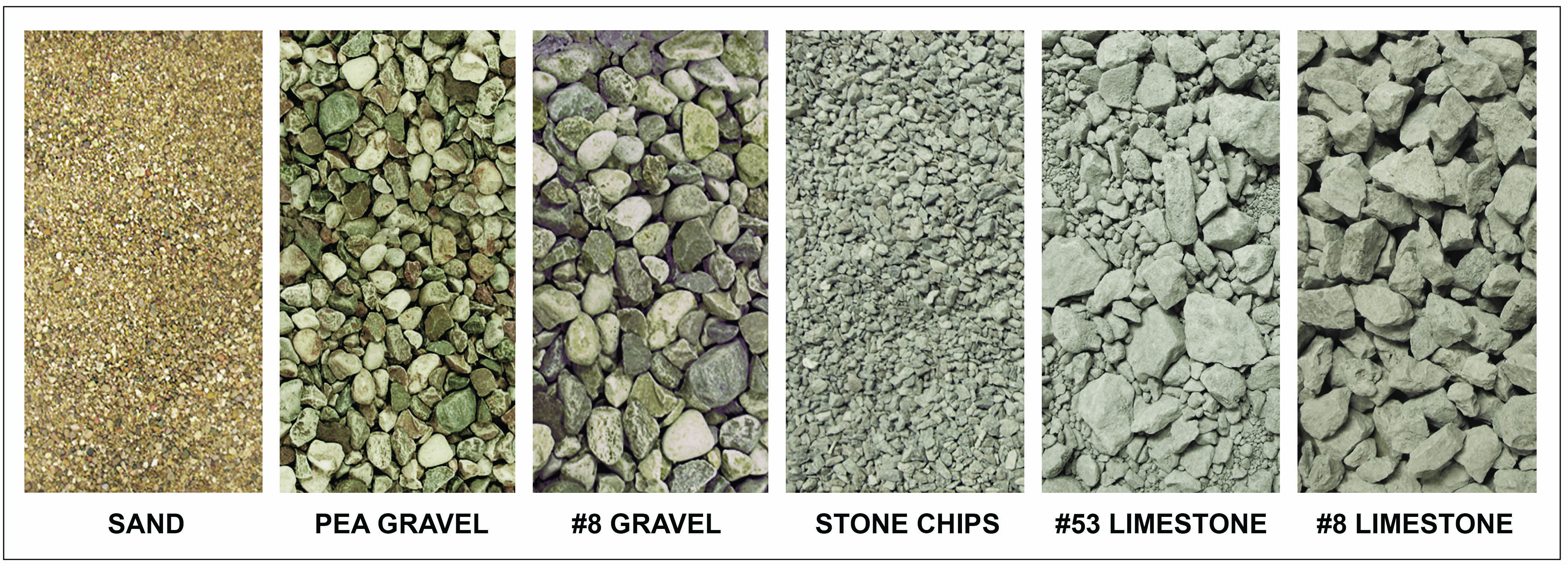 Gravel Sizes Chart : Aggregate and trucking